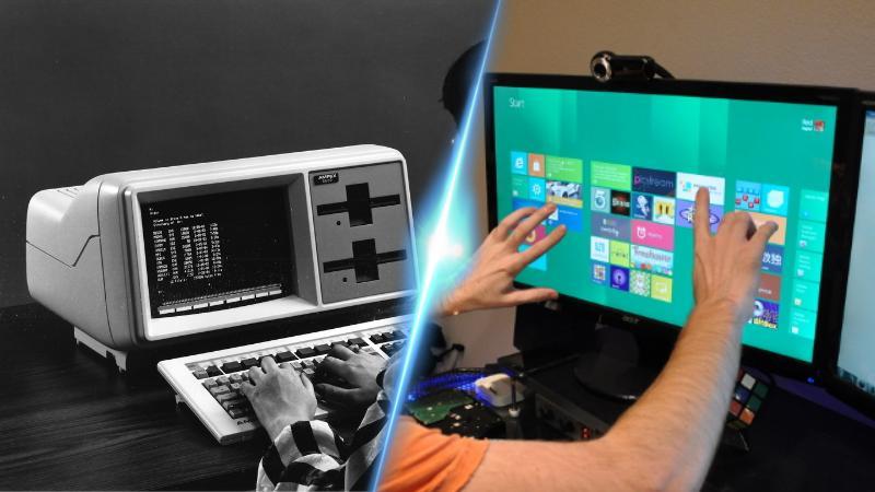 Mashup (3) - MS DOS vs Windows 8