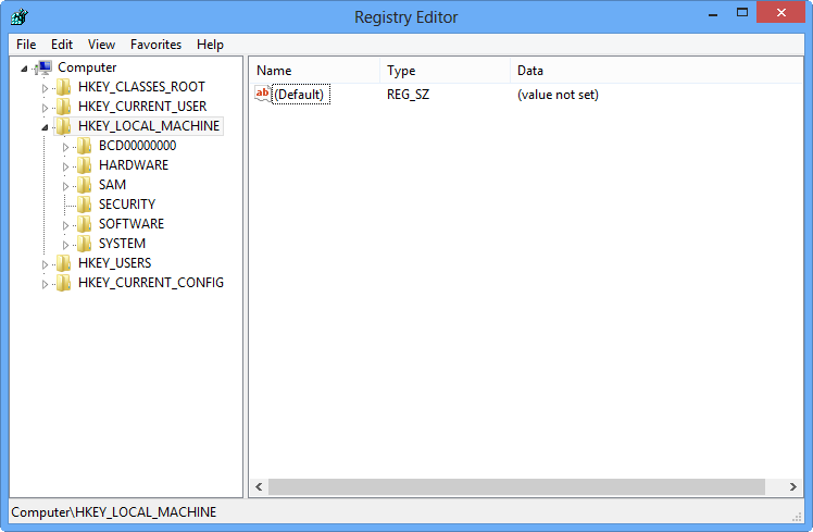 registry editor-windows8