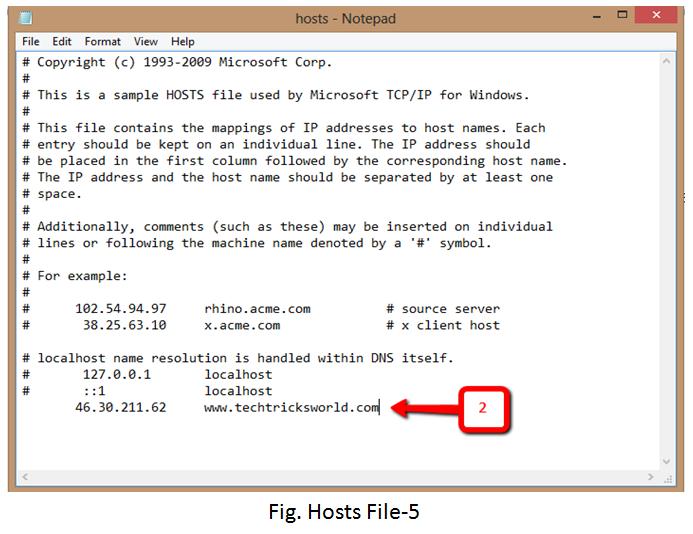 Editing Hosts File
